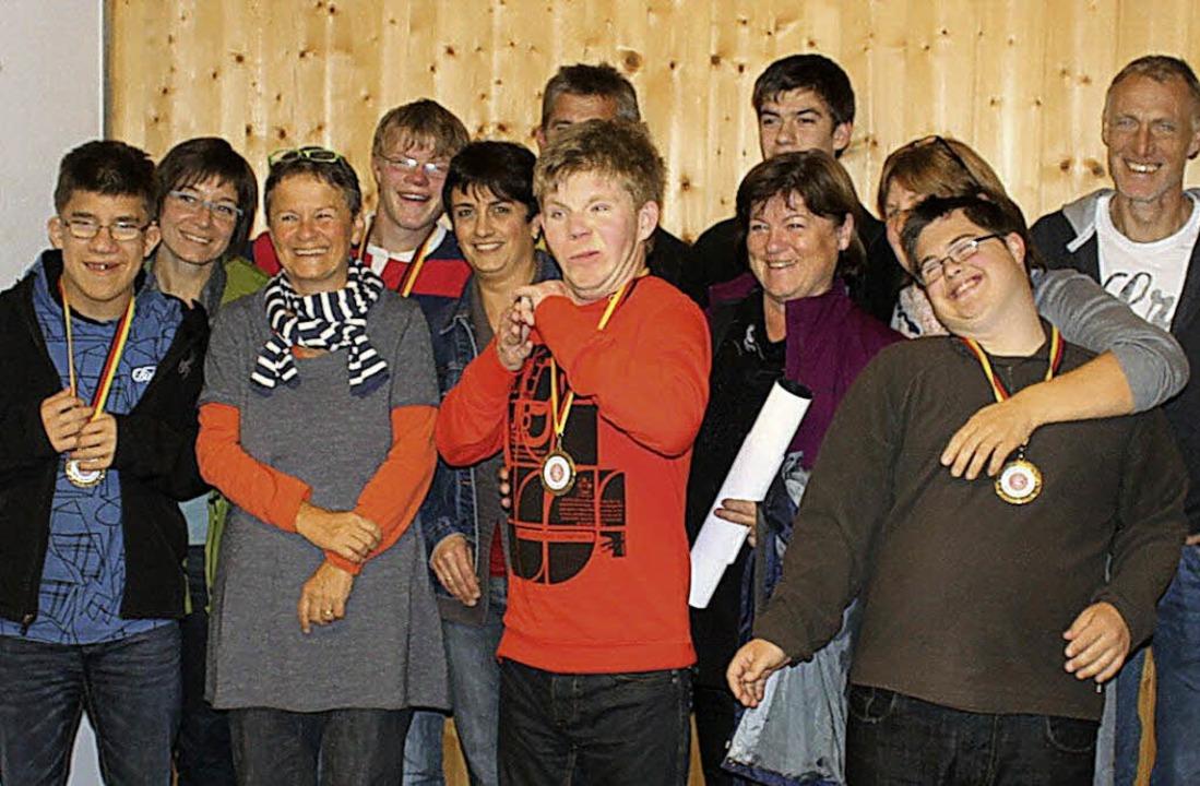 Teilnehmer der Gaudifahrt 2012  der Eduard-Spranger-Schule     Foto: ZVG
