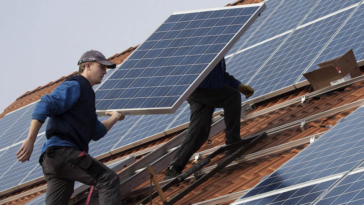 Die Genossenschaft Bürgerenergie setzt auf Fotovoltaik.   | Foto: DAPD