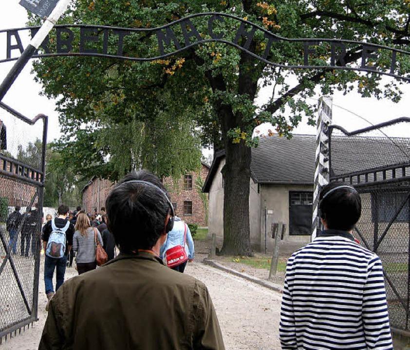 Schüler aus Breisach besuchten bei ihr...Gedenkstätte Auschwitz–Birkenau.  | Foto: eva lösch