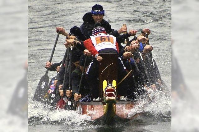 Raue See für Drachenboote