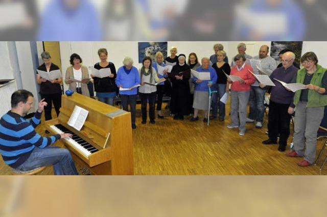 Sie singen und loben Gott