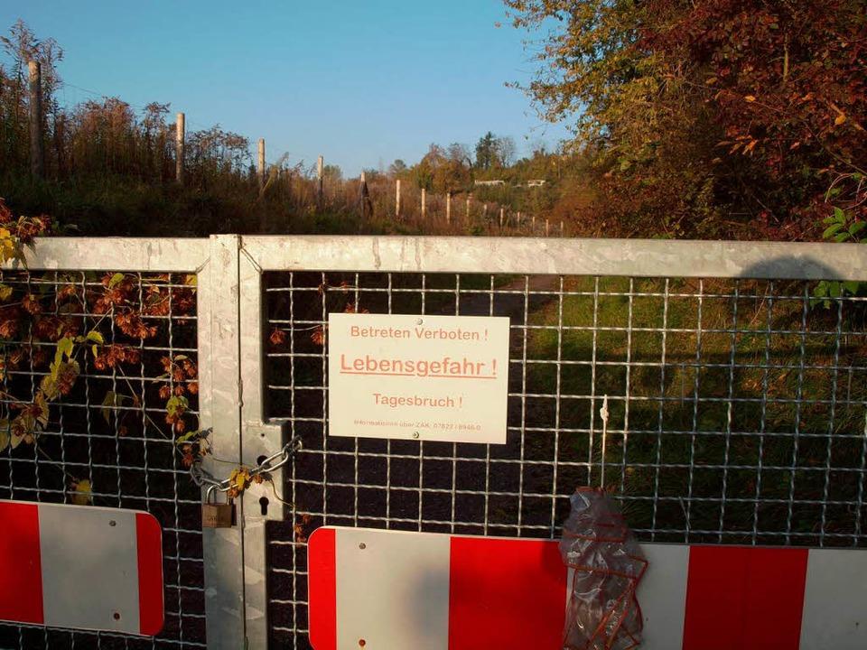 Herbolzheimer Kaiserberg: Betretungsverbot ist