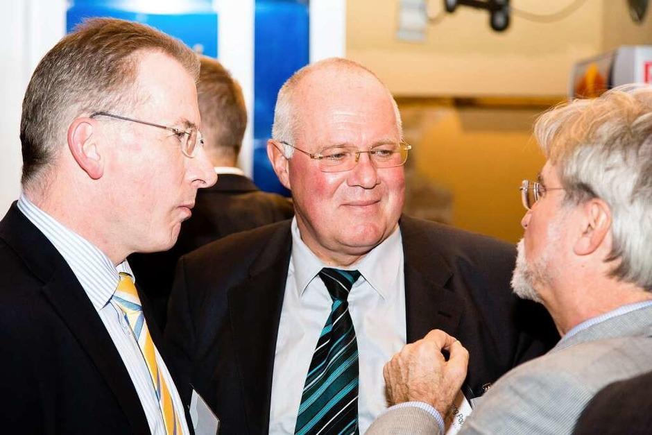 Hans-Otto Holz mit Wolfgang Poppen und Thomas Hauser (Foto: Dominic Rock)