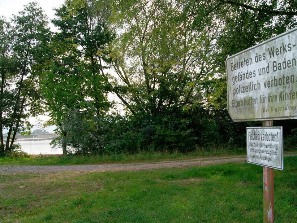 Im Acherner Petersee ist das Schwimmen verboten.  | Foto: obe