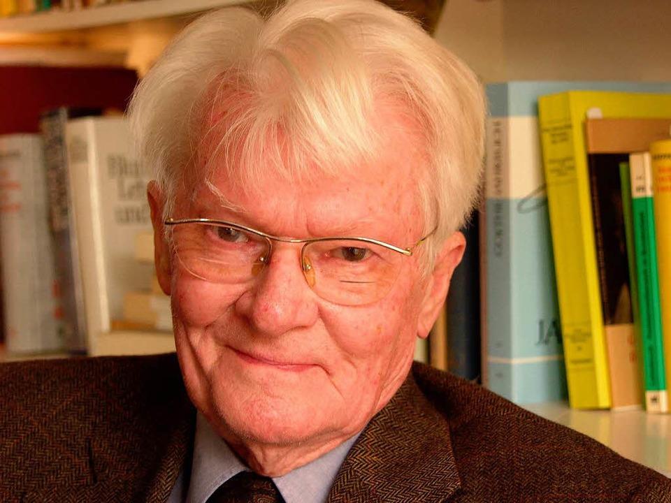 Der Politikwissenschaftler Wilhelm Hennis ist tot. Hier eine Aufnahme von 2003.  | Foto: Thomas Kunz