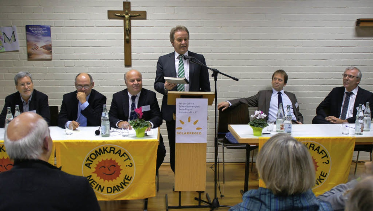 Weisweiler Energiegespräch mit Umweltminister Franz Untersteller (Mitte).   | Foto: Ilona Hüge