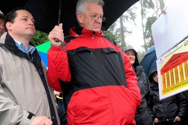 Nationalpark Nordschwarzwald: Was sagt Kretschmann vor Ort?