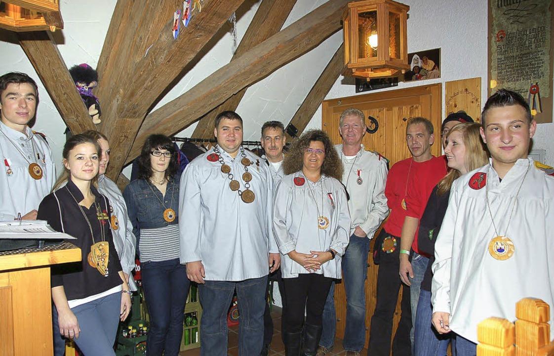 Wie immer am 11.11. durften sich viele Stühlinger Hansele über Orden freuen.  | Foto: Jutta Binner-Schwarz