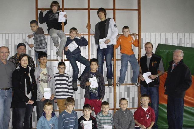 Sportliche Schüler in St. Fridolin
