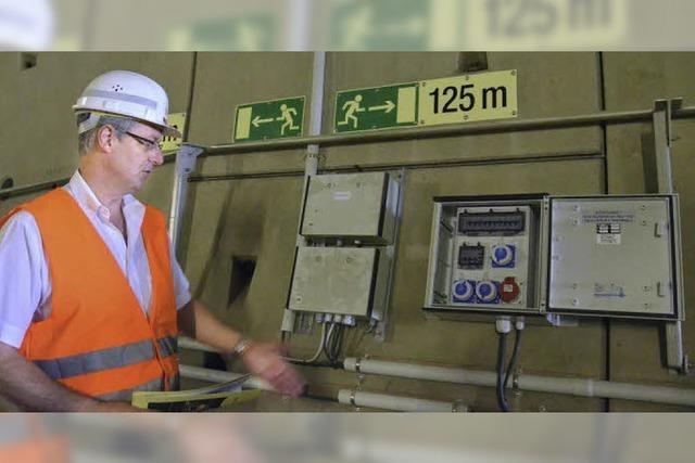 Tunneltest mit groß angelegter Rettungsübung