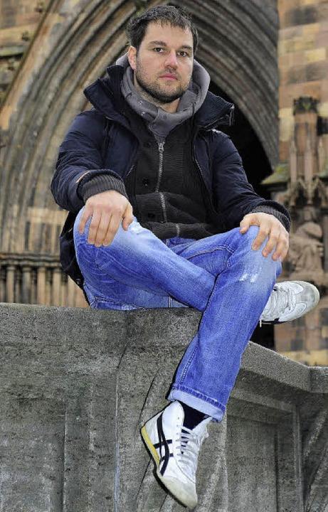 Weiß, er ist Freiburger: Benedikt Böckenförde     Foto: Thomas Kunz