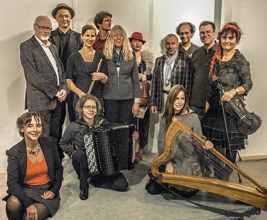Bildende Künstler und Musiker sorgten ... Organisatorin Michaela (Milu) Dassow.    Foto: Veranstalter