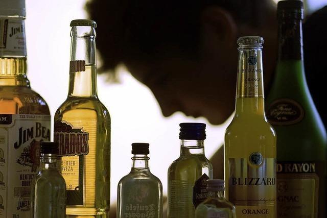 Sieben Flaschen Wodka im Rucksack