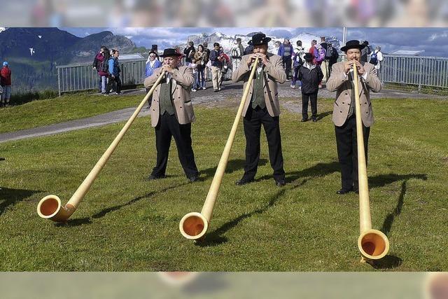 Alphornmusik in Mengen: Geistlichen Abendmusik