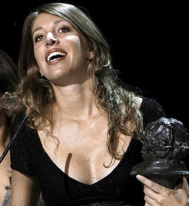 Lucia Puenzo bei der Vergabe der Goya-Filmpreise 2008  | Foto: dpa