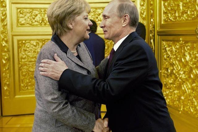 Merkel mahnt Menschenrechte bei Putin an