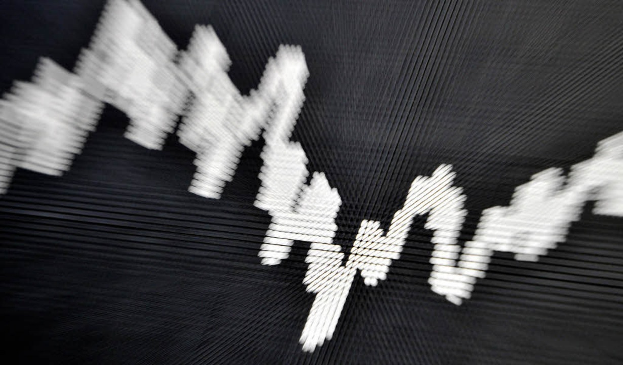 Das Auf und Ab an den Aktienmärkten sc...wärts gehen, sagt zumindest<ppp></ppp>    Foto: DPA