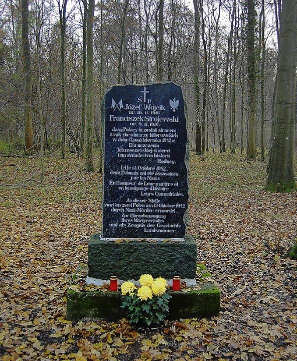 Das Polen-Denkmal im Ichenheimer Wald   | Foto: hagen späth