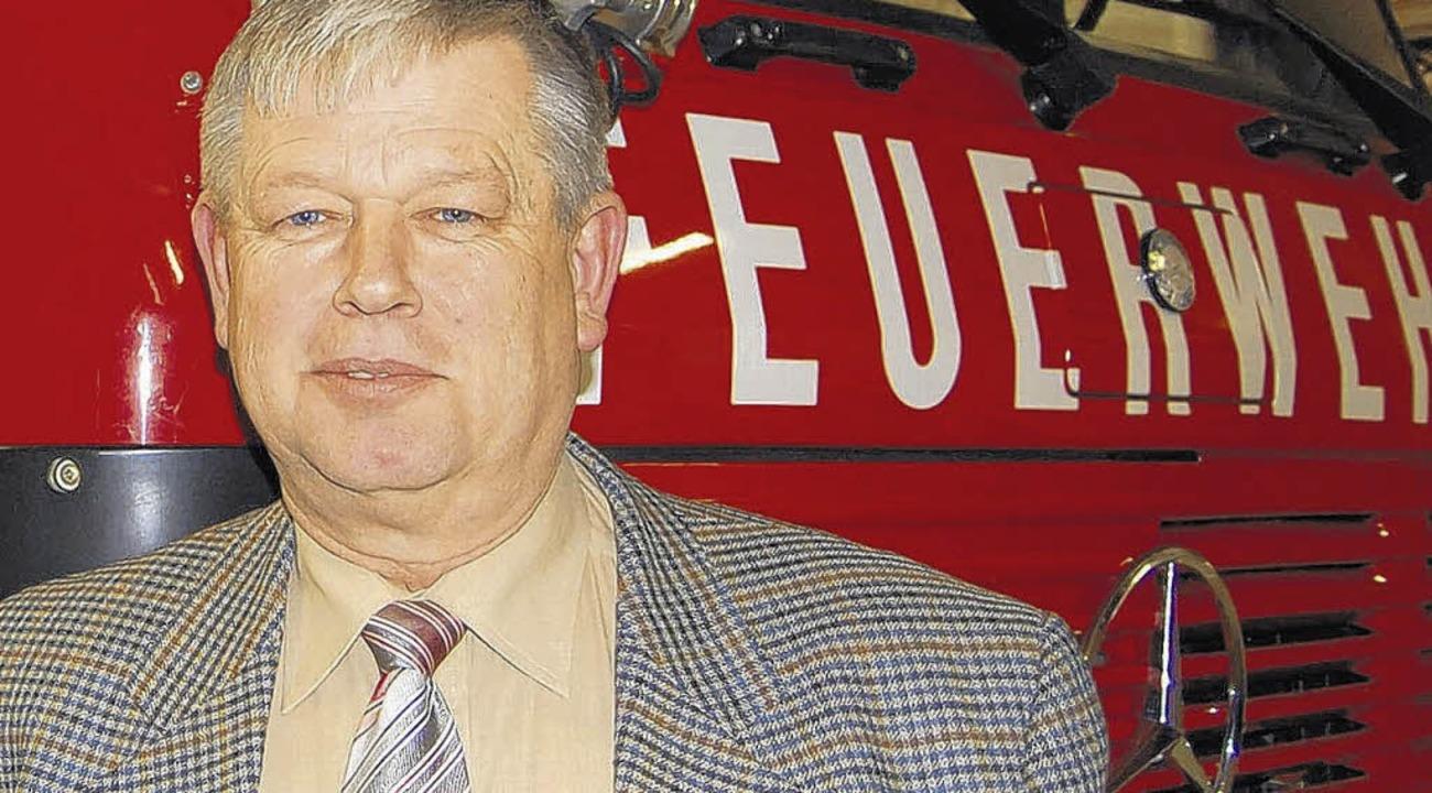 Prominentester Feuerwehrmann der Stadt: Joachim Wicher    | Foto: SK-Archiv