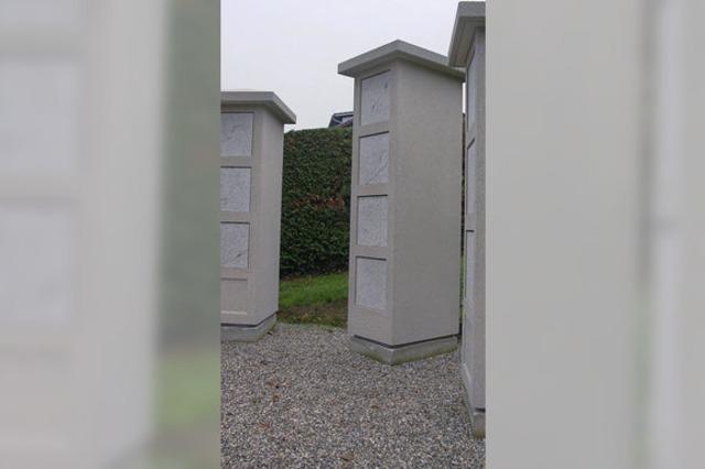 Drei Urnenstelen sind jetzt eingeweiht