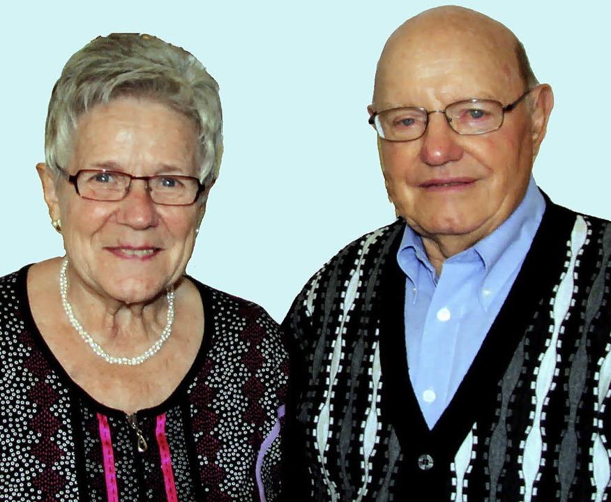 Erika und Edgar Scherer feiern heute  goldene Hochzeit.    Foto: herbert trogus