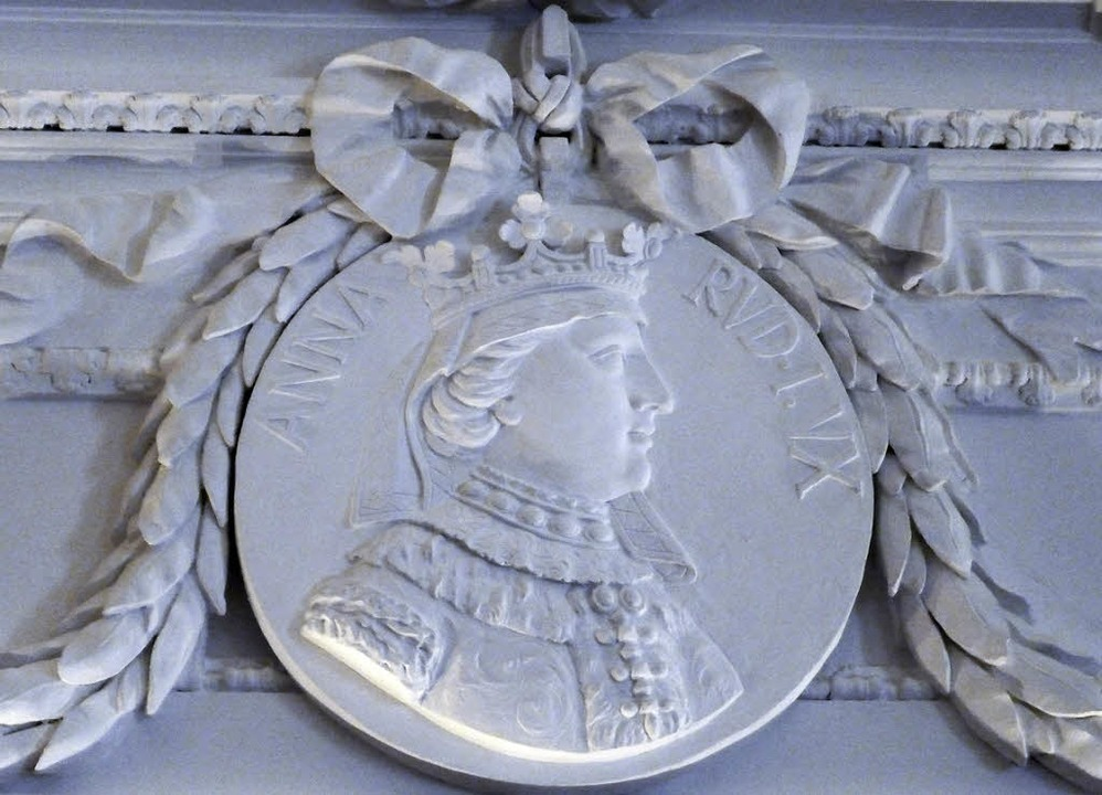 Anna als Medaillon im Habsburgersaal des Kollegs.  | Foto: Thomas Mutter