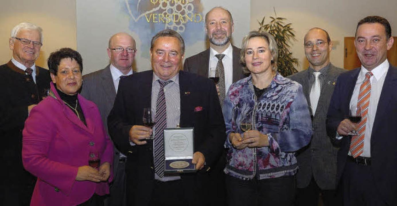 Empfang für Leopold Schätzle und seine...er Verleihung des Bundesehrenpreises.   | Foto: Jürgen Schweizer