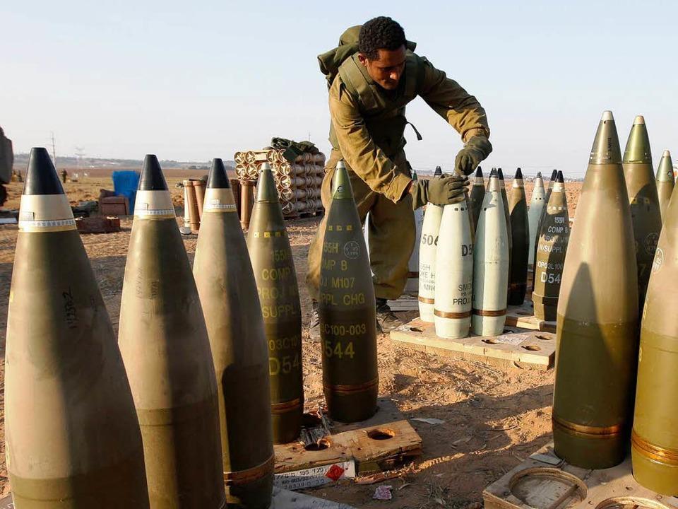 Nein, eingepackt werden diese Artiller...egt offenbar im Bereich des Möglichen.  | Foto: AFP