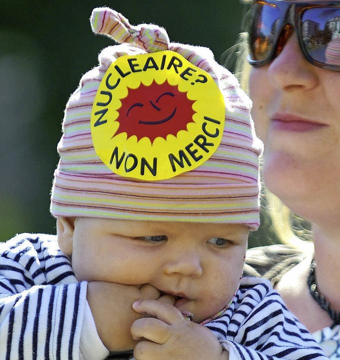 Früh übt sich: Die Anti-AKW-Bewegung in Frankreich hat eine lange Geschichte.  | Foto: AFP