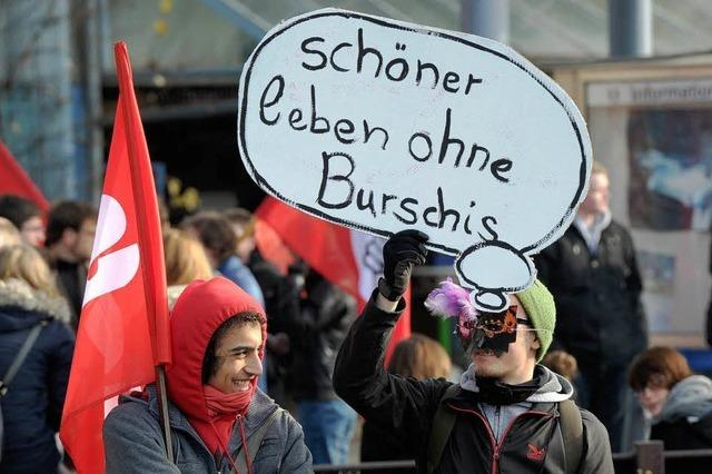 Protest gegen Treffen der Burschenschaften