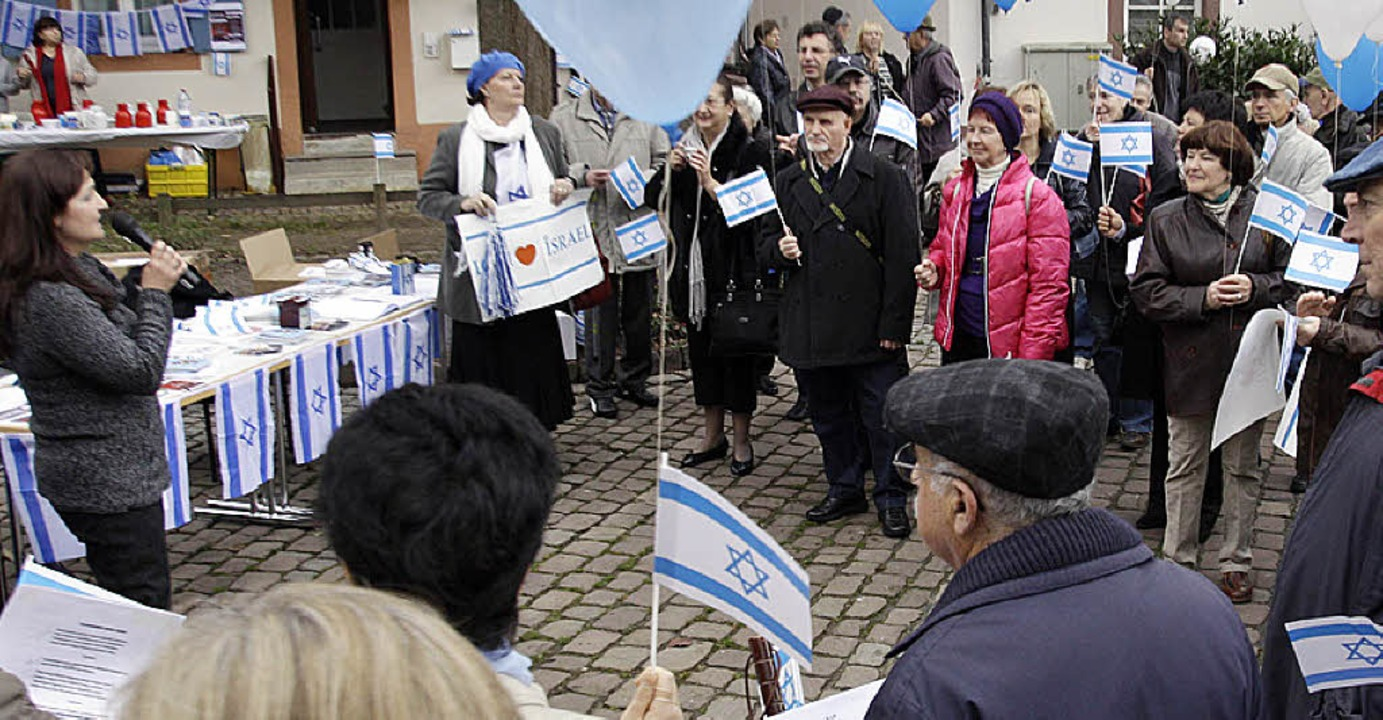 Impressionen von der Kundgebung auf de...chlossplatz für Frieden im Nahen Osten  | Foto: Patrik Müller