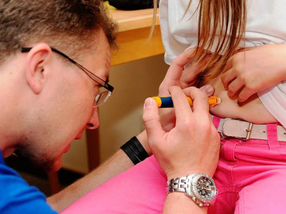 Im Kommen: Kinder mit Diabetes Typ 1    Foto: dpa