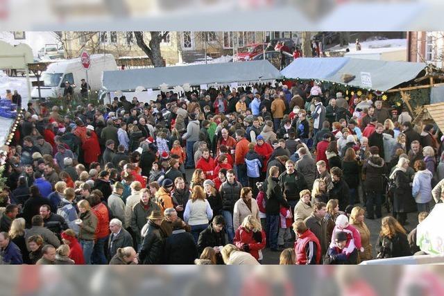 Weihnachtsmarkt mit vielen regionalen Ausstellern