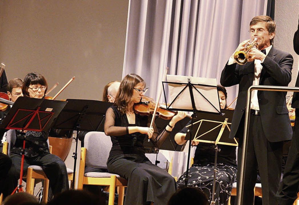 Solist Michael Bockstahler an der Trompete  | Foto: Christiane Franz