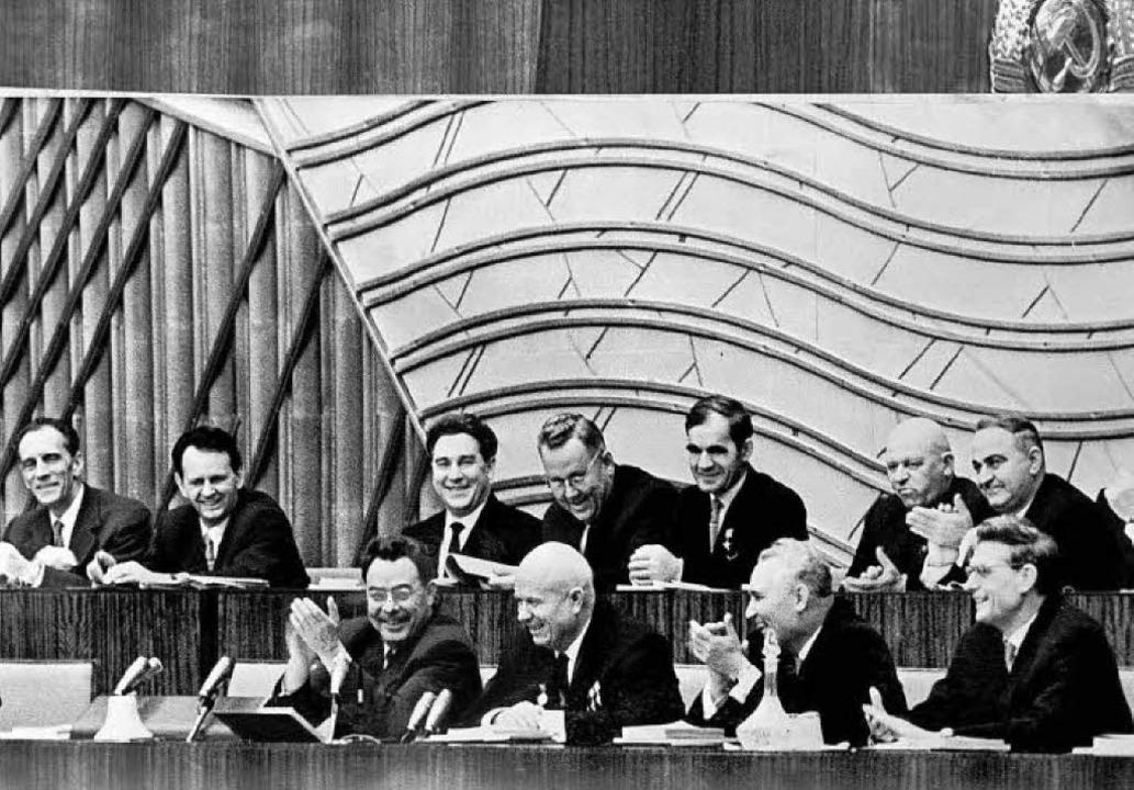 Nomenklatura nach Stalin:    Chruschts...n Breshnew und Kossigyn im Jahr 1961    | Foto: AFP