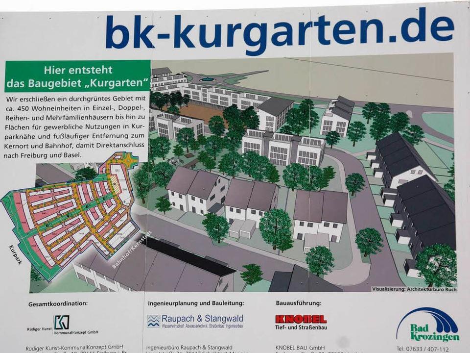 Noch ist das Neubaugebiet Kurgarten nu...r die ersten Gebäude errichtet werden.  | Foto: Alexander Huber