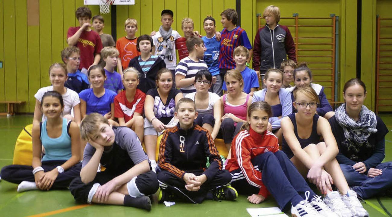 Die Klasse 7a der Realschule am Giersb...auf für bedürftige Kinder in Windhuk.   | Foto: Privat