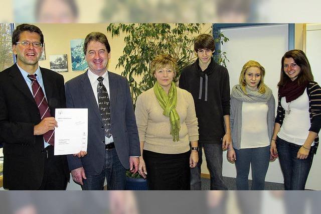 Bestnote für die Breisacher Realschule