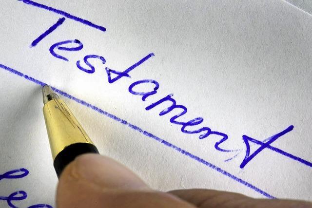 Ein Testament gibt dem Amtsgericht Rätsel auf