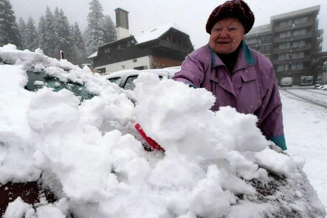 Im Schwarzwald fallen bis zu 60 Zentimeter Schnee