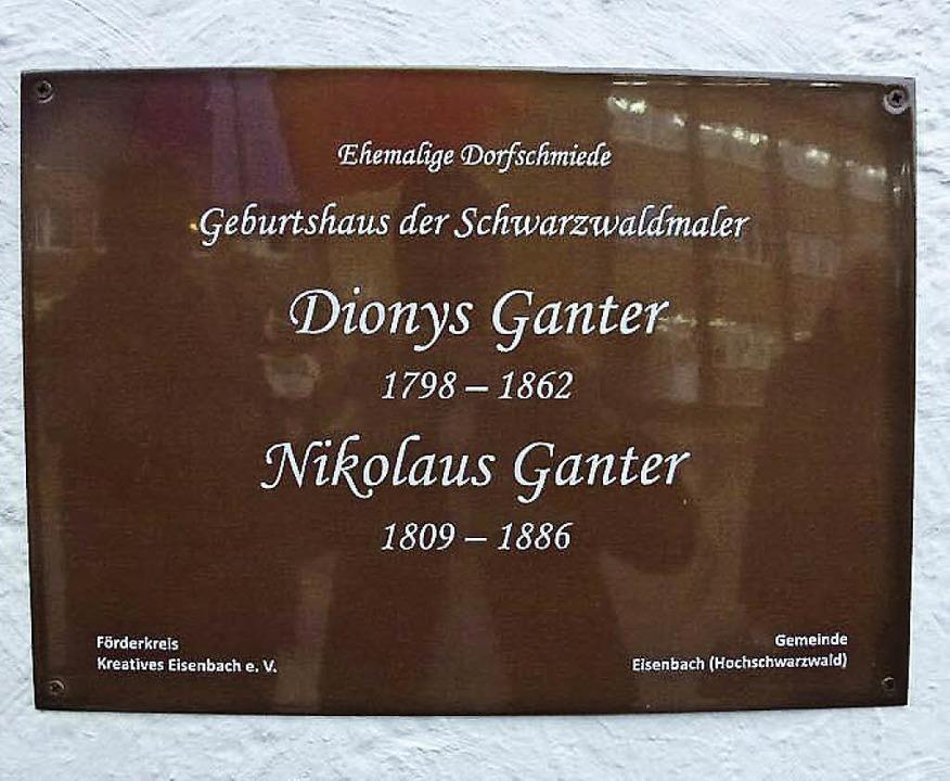 Zum 150. Todestag von Dionys Ganter ha...shaus der malenden Brüder angebracht.     Foto: Heidrun Brichta