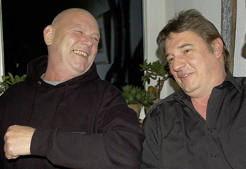 Uwe Pieper (links) und Christian Haid ...en sich nicht nur musikalisch bestens.    Foto: Binner-Schwarz