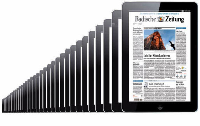 Sieht aus wie die BZ, ist die BZ: Die ...g gibt es ab sofort auch auf dem iPad.    Foto:  BZ
