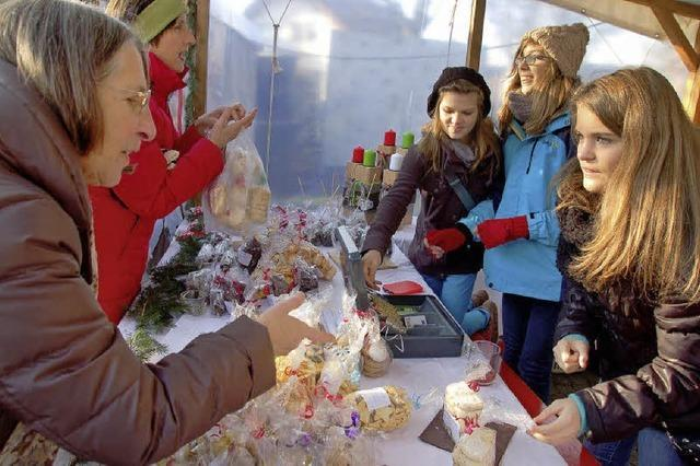 Beim Weihnachtsmarkt stimmte alles