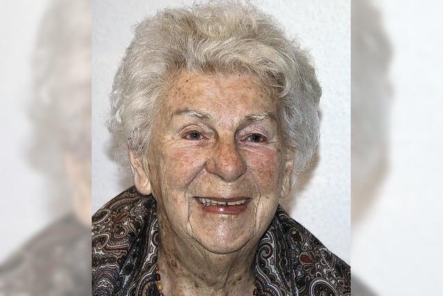 Charlotte Henkel feiert in Denzlingen ihren 100. Geburtstag