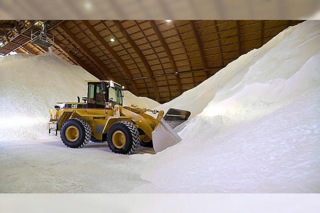 Streusalz en masse - die Schweiz ist gut gerüstet für den Winter