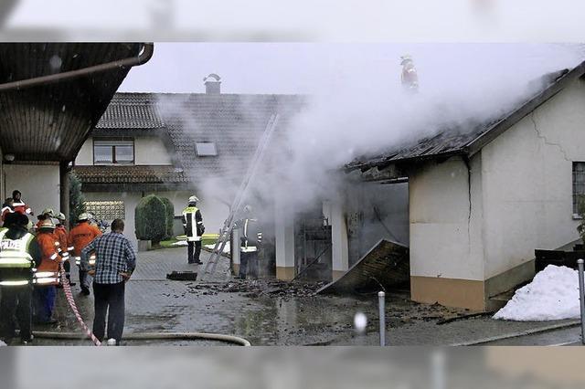 Garagen in Brand