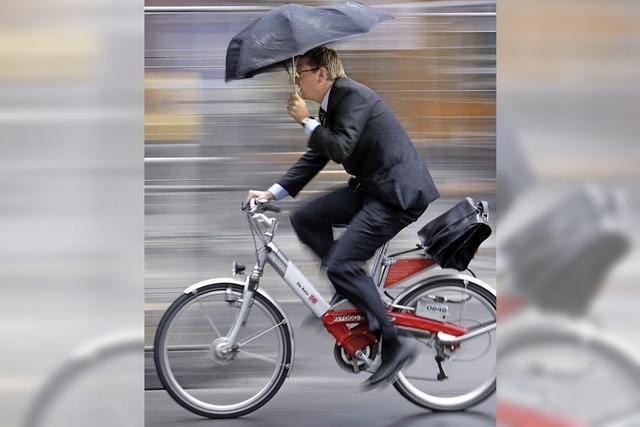 Zügig mit dem Fahrrad zur Arbeit