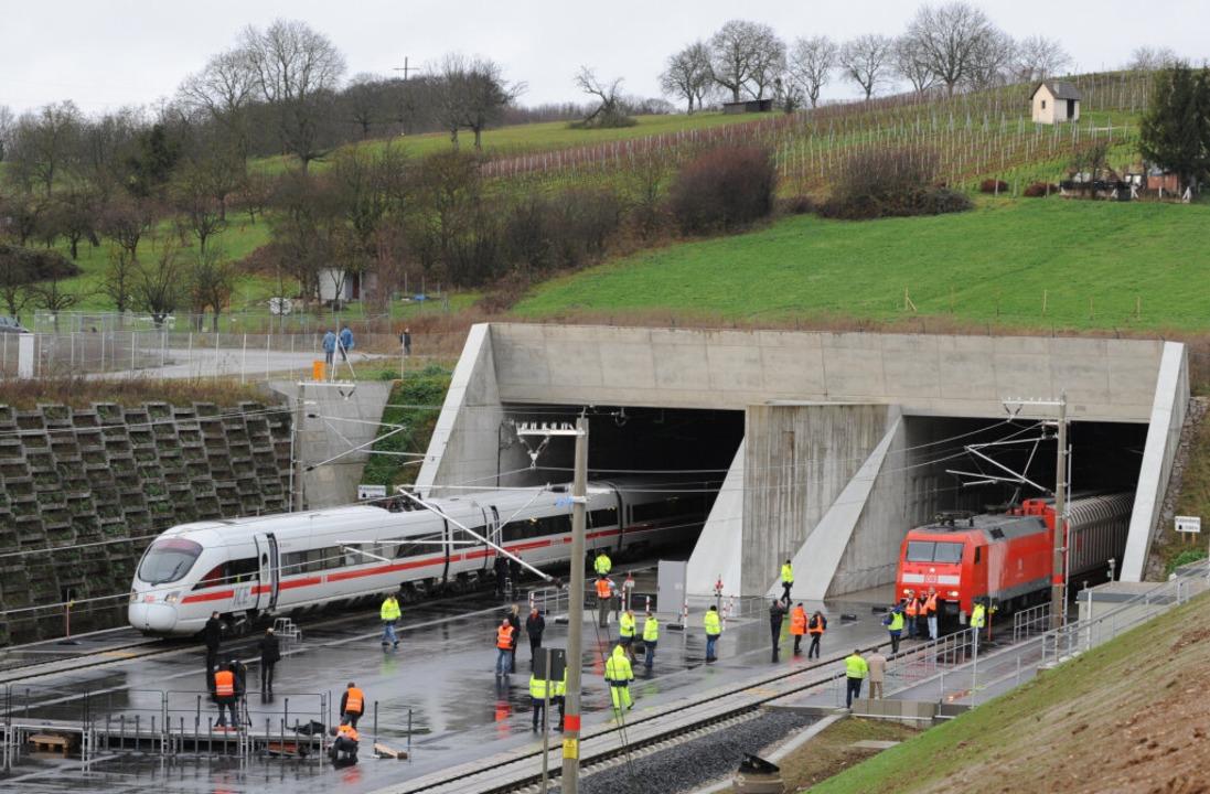 Der neue Katzenbergtunnel gilt als Vorzeigeprojekt.  | Foto: dpa
