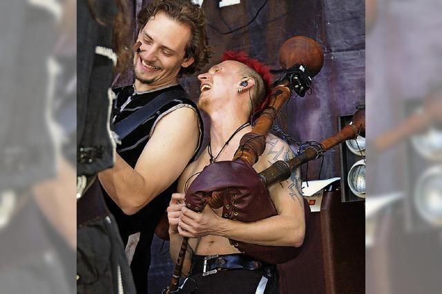Mittelalterfest mit gedämpfter Musik
